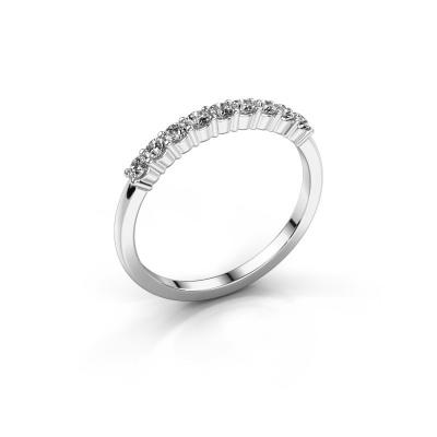 Picture of Engagement ring Yasmin 9 950 platinum zirconia 2.4 mm