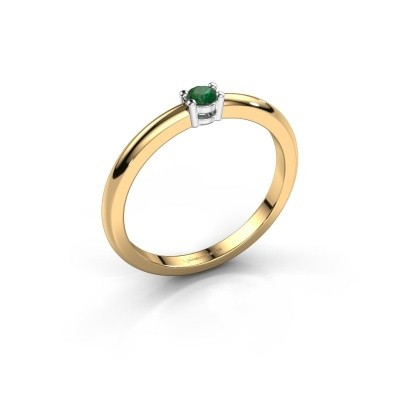 Foto van Verlovingsring Michelle 1 585 goud smaragd 2.7 mm
