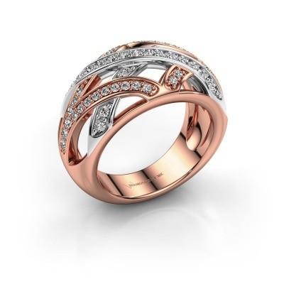 Ring Yinthe 585 rosé goud zirkonia 1.5 mm