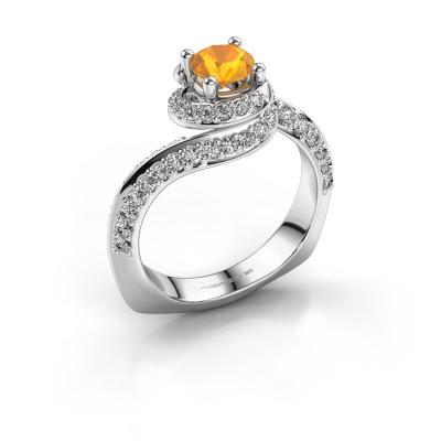Engagement ring Sienna 585 white gold citrin 5 mm