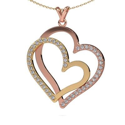Foto van Halsketting Cathy 585 rosé goud diamant 1.15 crt