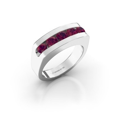 Picture of Men's ring Richard 925 silver rhodolite 4 mm
