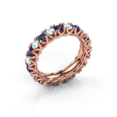 Ring Fenna 585 rosé goud saffier 3 mm