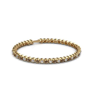 Foto van Tennisarmband Bianca 3 mm 375 goud rookkwarts 3 mm