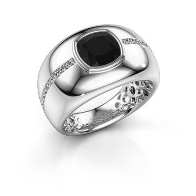 Foto van Ring Sydney 925 zilver zwarte diamant 3.21 crt