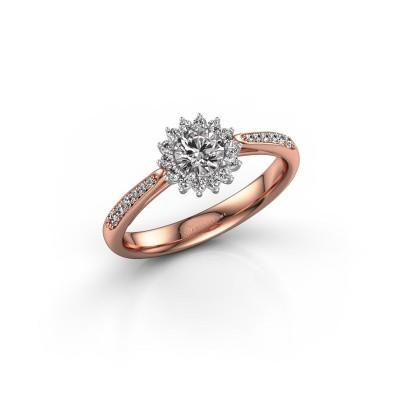 Verlovingsring Tilly RND 2 585 rosé goud diamant 0.30 crt