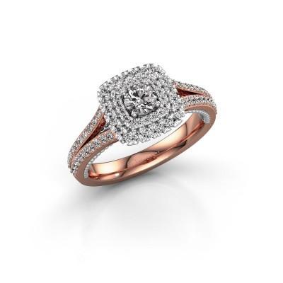 Bild von Verlobungsring Annette 585 Roségold Diamant 0.822 crt