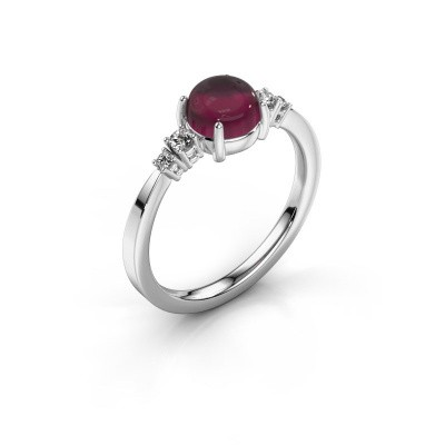 Ring Regine 925 silver rhodolite 6 mm