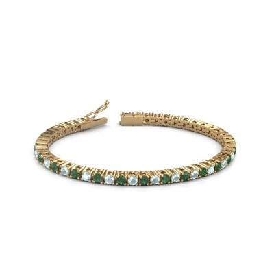 Foto van Tennisarmband Jenny 375 goud smaragd 3.5 mm