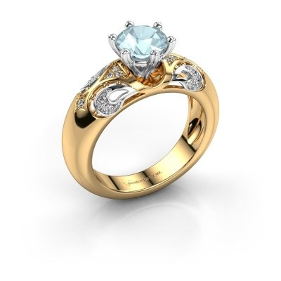Ring Maya 585 Gold Aquamarin 6.5 mm
