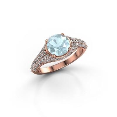 Picture of Ring Lovella 375 rose gold aquamarine 7 mm