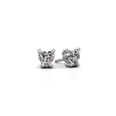 Bild von Ohrringe Sam Heart 585 Weissgold Diamant 1.00 crt