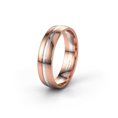 Wedding ring WH0420M25X 585 rose gold ±5x1.5 mm