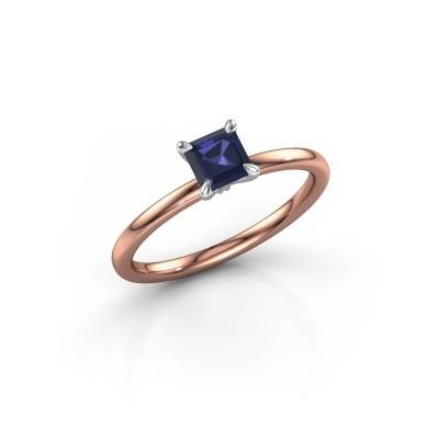 Verlobungsring Crystal ASS 1 585 Roségold Saphir 5 mm