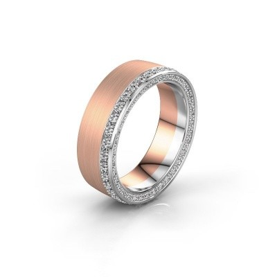 Wedding ring WH2224L26C8 585 rose gold zirconia 1.3 mm ±0.26x0.09in