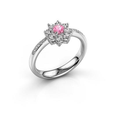 Verlobungsring Camille 2 585 Weißgold Pink Saphir 3.4 mm