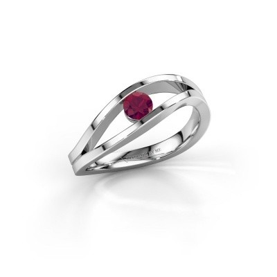 Engagement ring Sigrid 1 925 silver rhodolite 3.7 mm