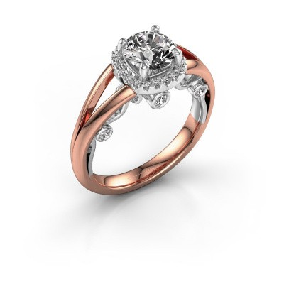 Picture of Engagement ring Carina 585 rose gold diamond 0.44 crt