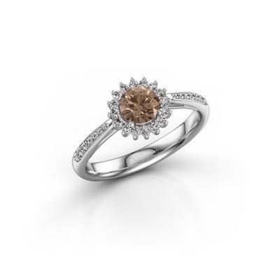 Bild von Verlobungsring Mariska 2 950 Platin Braun Diamant 0.50 crt