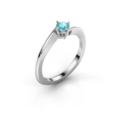 Picture of Engagement ring Ingrid 585 white gold blue topaz 4 mm