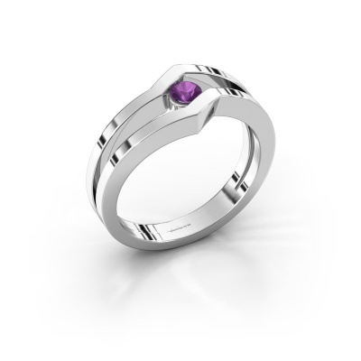 Ring Elize 585 white gold amethyst 3.4 mm