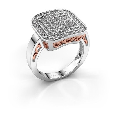 Foto van Ring Beatrice 585 witgoud diamant 0.60 crt