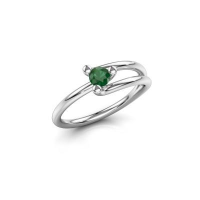 Ring Roosmarijn 925 Silber Smaragd 3.7 mm