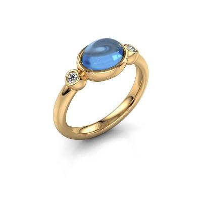 Ring Liane 585 Gold Blau Topas 8x6 mm