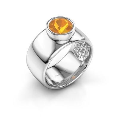 Ring Klarinda 925 silver citrin 7 mm