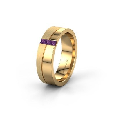 Trauring WH0906L16A 585 Gold Amethyst ±6x1.7 mm