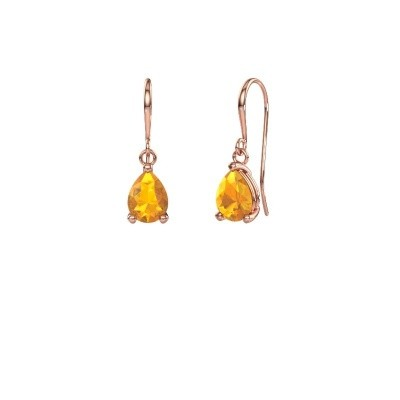 Picture of Drop earrings Laurie 1 375 rose gold citrin 8x6 mm
