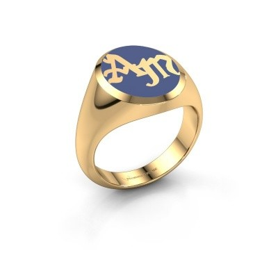 Picture of Monogram ring Brad Emaille 585 gold