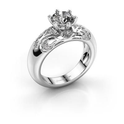 Ring Maya 585 white gold zirconia 6.5 mm