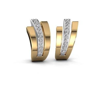 Oorbellen Emeline 585 witgoud lab-grown diamant 0.20 crt