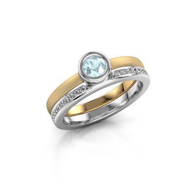 Picture of Ring Cara 585 gold aquamarine 4 mm
