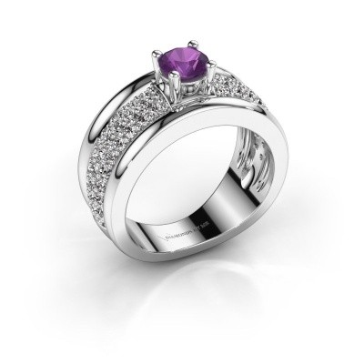 Picture of Ring Alicia 925 silver amethyst 5 mm