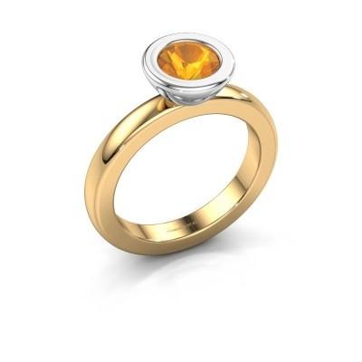 Stapelring Eloise Round 585 goud citrien 6 mm
