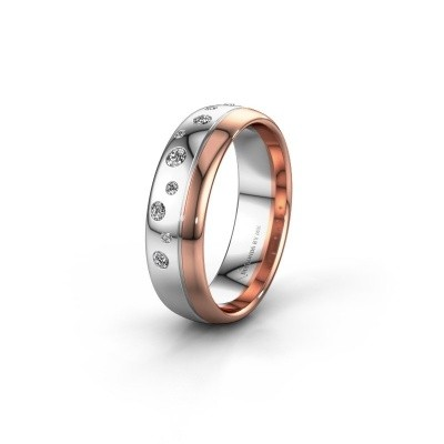 Trouwring WH0317L36AP 585 witgoud lab-grown diamant ±6x1.7 mm