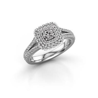 Foto van Verlovingsring Annette 925 zilver diamant 0.822 crt