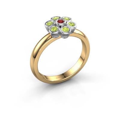 Ring Aaliyah 585 gold ruby 2 mm