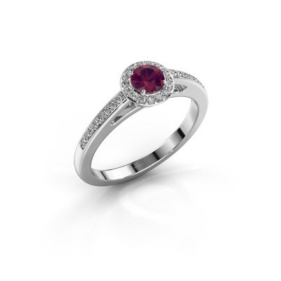 Engagement ring Aaf 950 platinum rhodolite 4.2 mm
