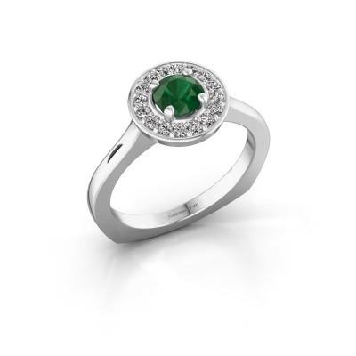Foto van Ring Kanisha 1 950 platina smaragd 5 mm