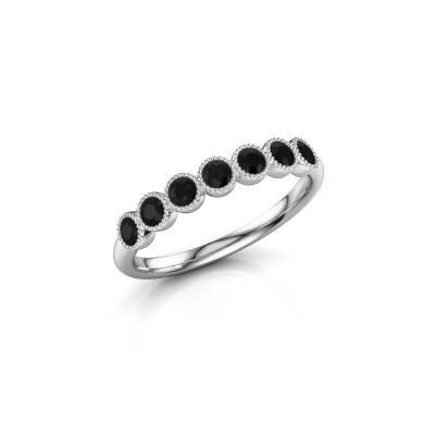 Foto van Ring Mariam half 950 platina zwarte diamant 0.462 crt
