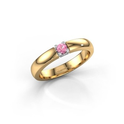 Picture of Engagement ring Rianne 1 585 gold pink sapphire 3 mm