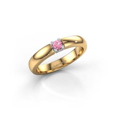 Bild von Verlobungsring Rianne 1 585 Gold Pink Saphir 3 mm