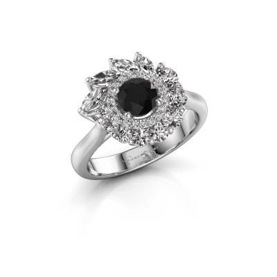 Foto van Verlovingsring Danita 585 witgoud zwarte diamant 1.528 crt