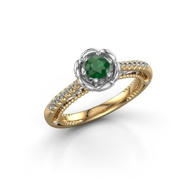 Picture of Engagement ring Abbey 585 gold emerald 4.2 mm