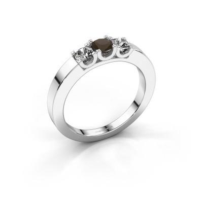 Foto van Verlovingsring Selina 1 925 zilver rookkwarts 3.7 mm