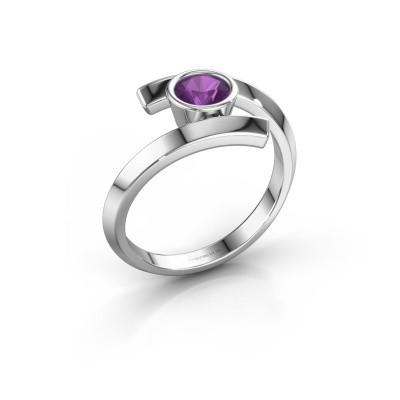 Ring Mara 925 zilver amethist 5 mm