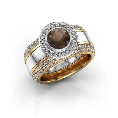 Picture of Ring Roxie 585 white gold smokey quartz 6.5 mm